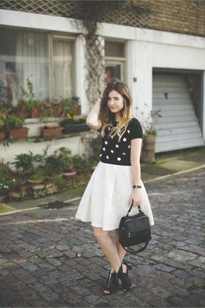 black Lucy Paris sweater - black Topshop shoes - black Primark bag