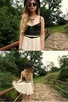 Ebay skirt - H&M hat - Ebay bra