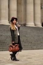Topshop jumper - H&M hat - vintage jacket - Forever 21 skirt