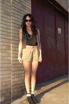 Yellow is Gold shorts - American Apparel socks - Kimchi&Blue vest