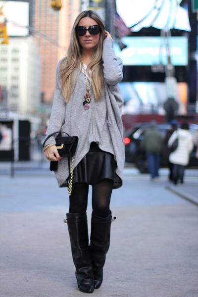maxi cardigan romwe cardigan - leather Choies boots