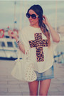 Studded-bag-blanco-bag-romwe-sunglasses-cross-print-romwe-t-shirt