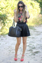 leather like romwe skirt
