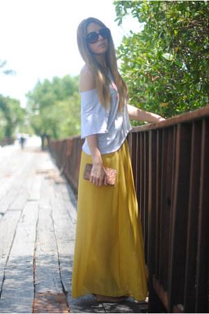Designed by me for Fashion Pills t-shirt - Prada sunglasses - Coosy skirt