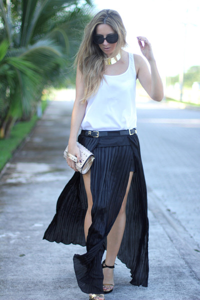pleated maxi Choies skirt