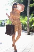 asymmetrical Sugarlips dress - neverfull Louis Vuitton bag