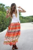 long Sheinside skirt - Claires bag