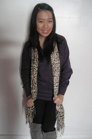 purple joe fresh style sweater - silver Chinese Laundry boots