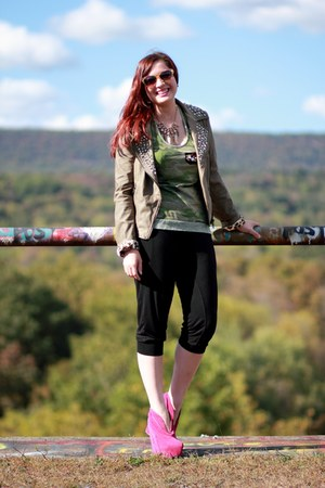 dark khaki sam edelman jacket - hot pink Jeffrey Campbell boots