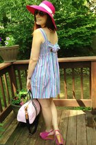 hot pink Ralph Lauren hat - sky blue Ralph Lauren dress
