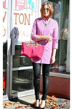 bubble gum tunic Ralph Lauren top - bubble gum Gucci bag