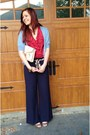Ruby-red-ruffles-ralph-lauren-blouse-navy-wide-leg-ellen-tracy-pants