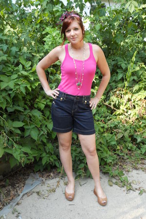 DIY headand accessories - Ralph Lauren shorts