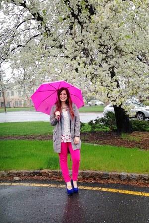 hot pink umbrella Ralph Lauren accessories - blue Betsey Johnson wedges