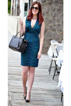 green Missoni dress - dark brown Gucci bag - black Gucci sunglasses