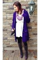 deep purple Ralph Lauren sweater - cream Ralph Lauren sweater