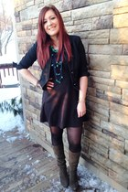 black Marshalls dress - black INC blazer