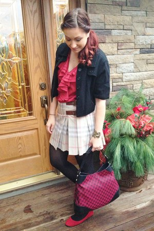 red Gucci bag - red Ralph Lauren top