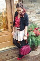 red Gucci bag - red Ralph Lauren top