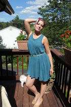Old Navy dress - Betsey Johnson earrings - Vintage-my moms belt