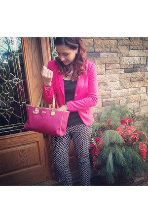 hot pink Kenar blazer - bubble gum Gucci bag