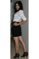 Marciano blouse - Miss Sixty skirt - Sketchers shoes