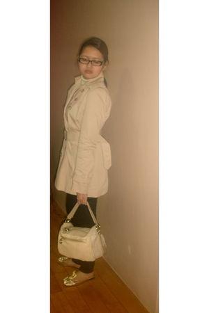 beige Zara blazer - black Zara pants - beige Furla bag - pink juan by janilyn sh