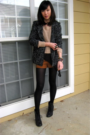 Alice  Olivia jacket - ASH boots - thakoon top