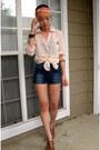 H-m-shirt-forever21-scarf-zara-shorts-dvf-wedges