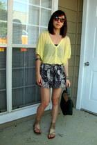 Zara top - Cooperative bag - Forever21 shorts - Karen Walker sunglasses