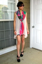 H&M scarf - madewell shoes - H&M dress - American Apparelels dress