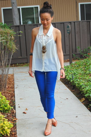 OASAP top - J Brand jeans - Vince Camuto heels
