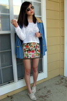 American Apparel skirt - Pour La Victoire shoes - Theory sweater - asos top