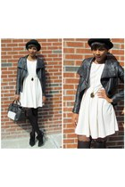 Dallin Chase jacket - LAMB boots - hm dress - Marc by Marc Jacobs bag