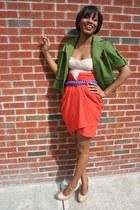 ann taylor blazer - H&M skirt - bustier asos top - BCBGeneration heels