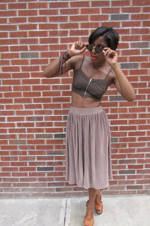 American Apparel skirt - vintage sunglasses - dany Jessica Simpson heels