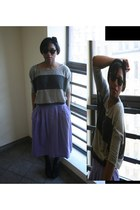 on head American Apparel scarf - Nine West heels - vintage skirt - Forever 21 to