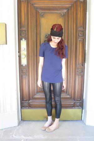 Aritzia leggings - Aritzia top - sam edelman flats - Michael Kors watch
