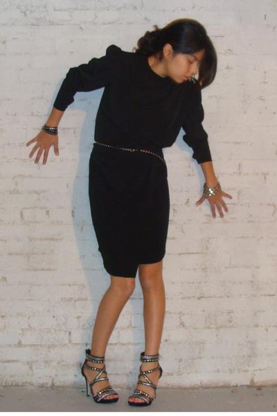 Black Dresses Black Bakers Shoes Silver F21 Bracelets Black Urban