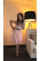 pink American Apparel dress - black H&M belt - black Charles & Keith shoes