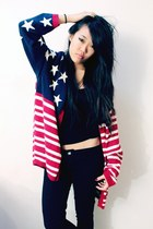 patriotic Vagabond Youth cardigan