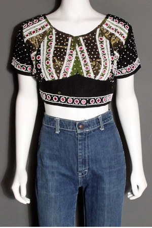 beaded crop Moonshine Hill top
