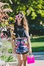 Hot-pink-mercules-purse-white-aj-morgan-sunglasses-dark-gray-cameo-top