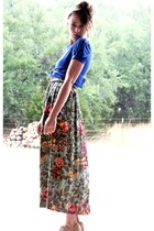 vintage top - vintage skirt - American Apparel skirt