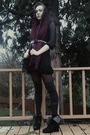 Black-house-of-vintage-dress-black-urbanxchange-belt-black-tights-walmart