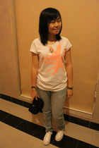 Puma t-shirt - Mango jeans - Converse shoes - Prada purse - Fossil accessories