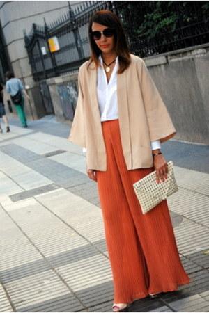tawny Forever 21 pants - beige Zara jacket - neutral Zara bag