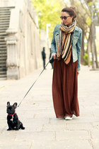Zara skirt - H&M jacket - Zara scarf - Converse sneakers