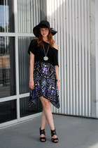 violet Urban Outfitters dress - black Target hat - black Pangaea shirt - black T