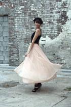 peach Mousevox Vintage skirt - black Mousevox Vintage top